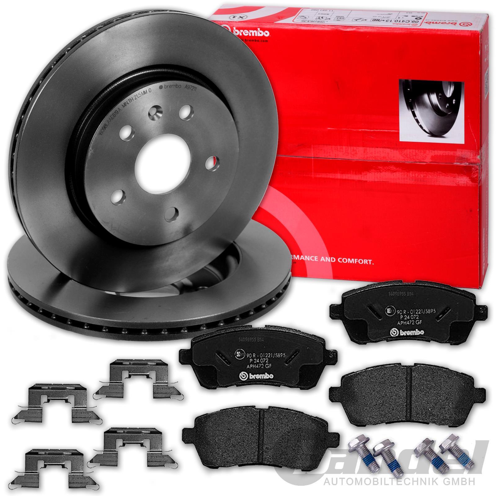 Bremsbeläge vorne für Ford Fiesta 4 5 2 Bremsscheiben Ø258mm