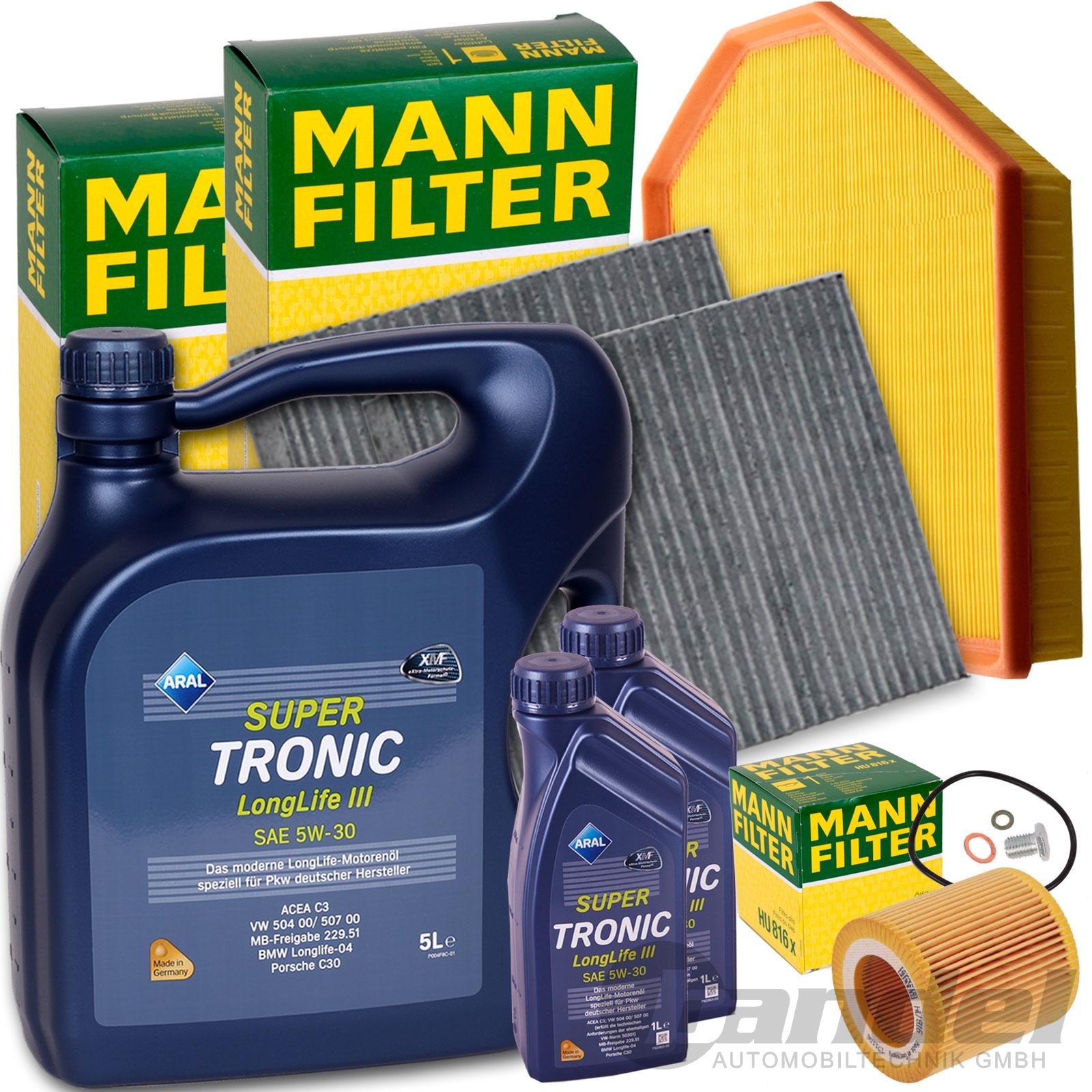 filterset inspektionskit aral 5w30 l bmw x3 f25 18 20 28i. Black Bedroom Furniture Sets. Home Design Ideas
