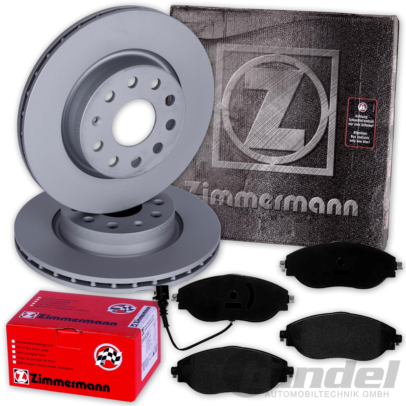 Zimmermann  Bremsscheiben 314mm Bremsbeläge vorne Seat Alhambra VW Sharan
