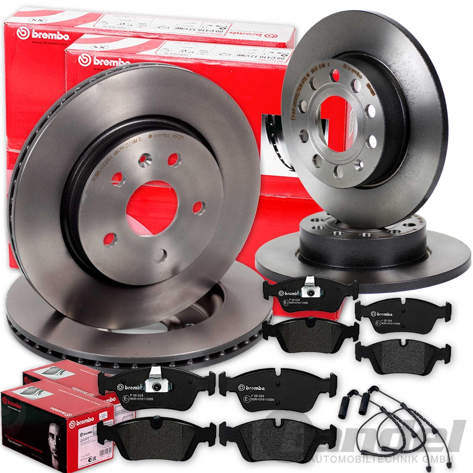 brembo bremsenset bremsscheiben bremsbel ge vorne hinten. Black Bedroom Furniture Sets. Home Design Ideas