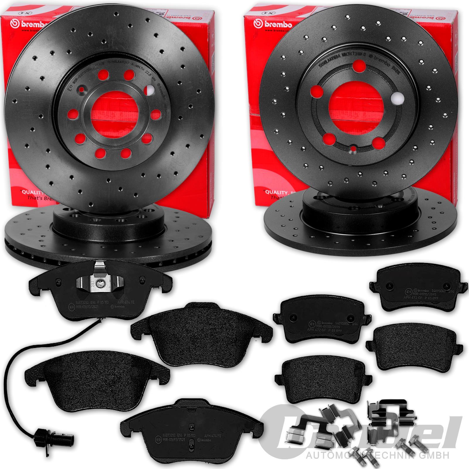 Bremsbeläge hinten Audi Q5 8RB A4 B8 A5 8F Brembo Sport Bremsscheiben Ø330mm