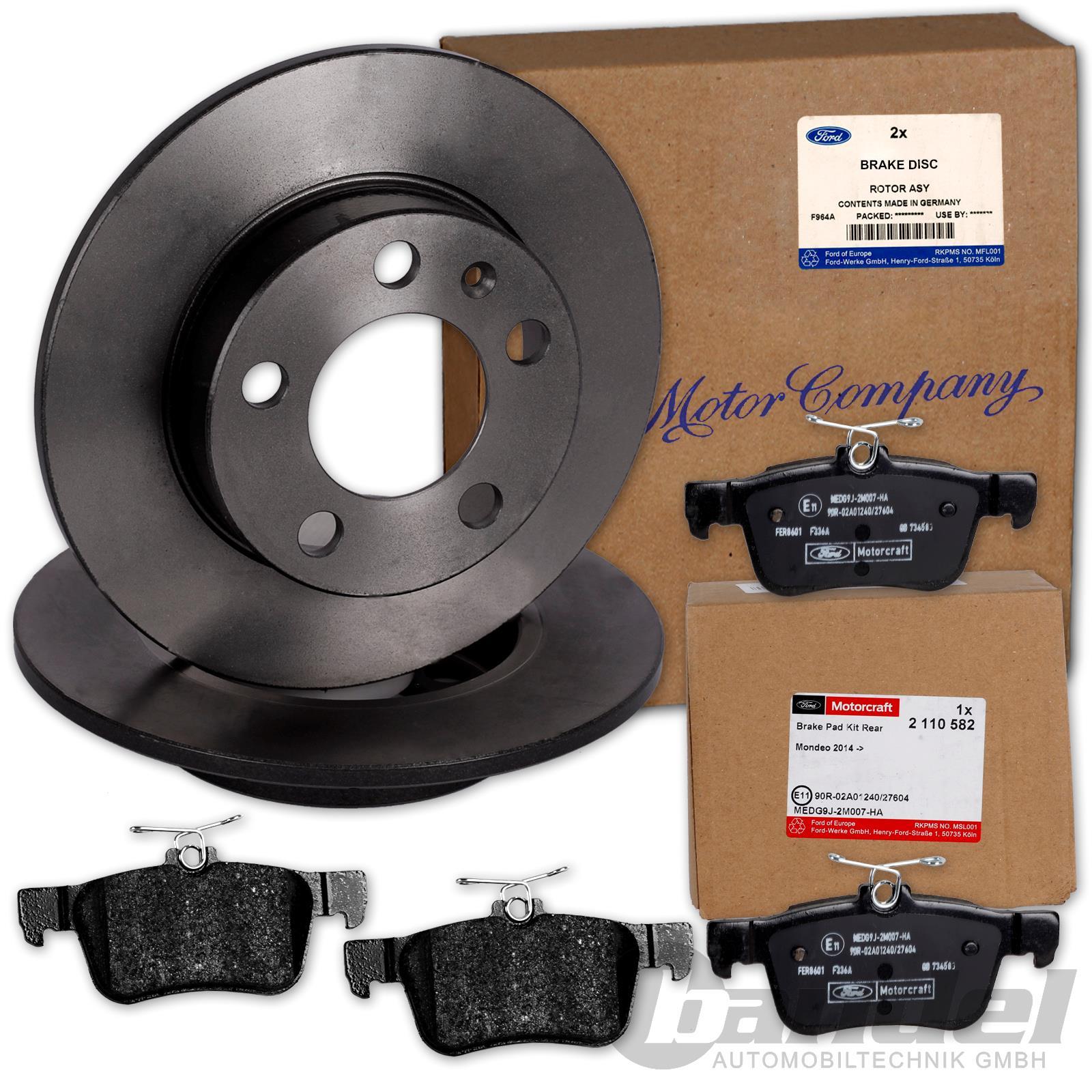 Beläge MONDEO V MK5 16 Zoll vorne ORIGINAL Ford Bremsen Kit Bremsscheiben