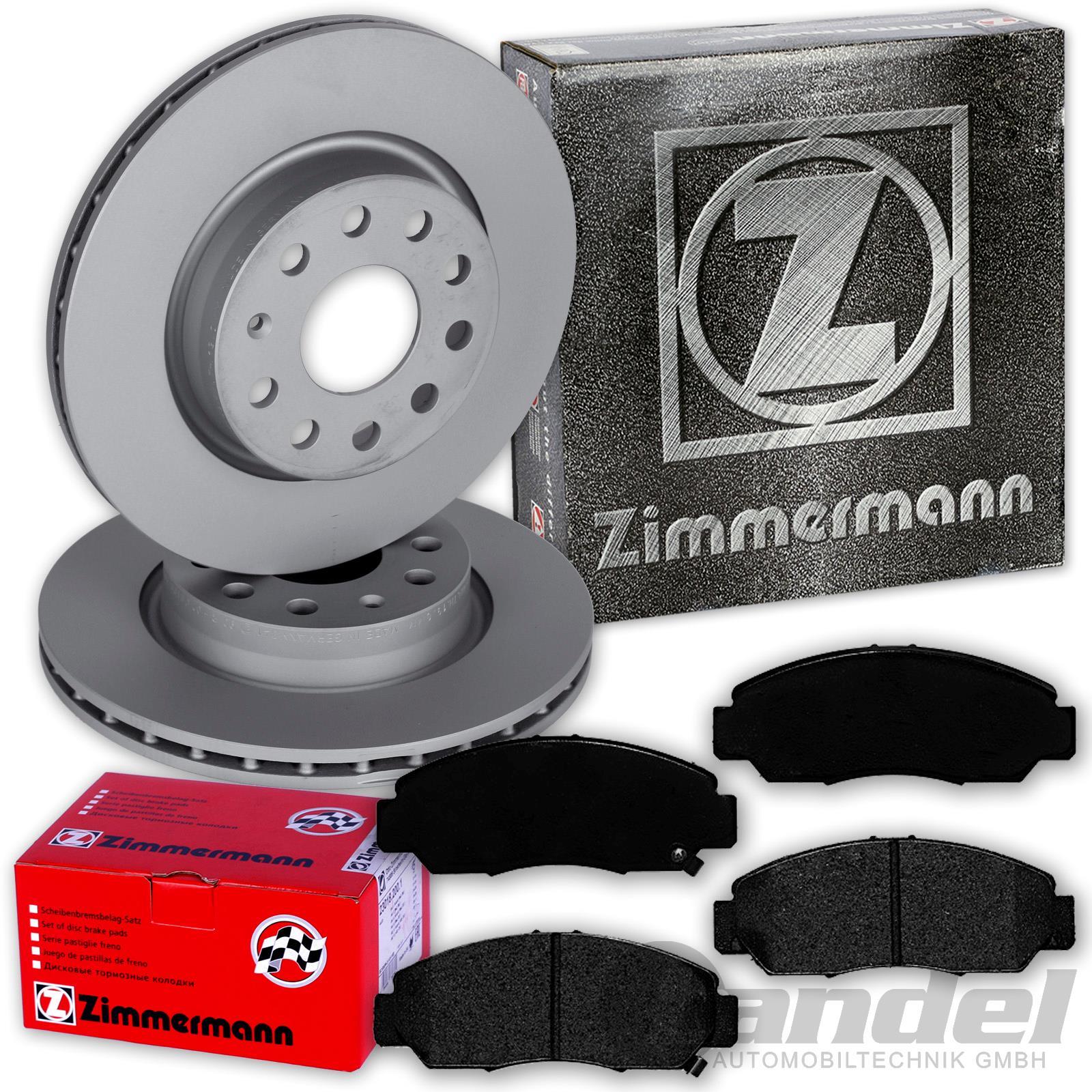 ZIMMERMANN Bremsscheiben 1.7 1.8 2.0 2.2i-CTDi hinten BE Beläge HONDA FR-V
