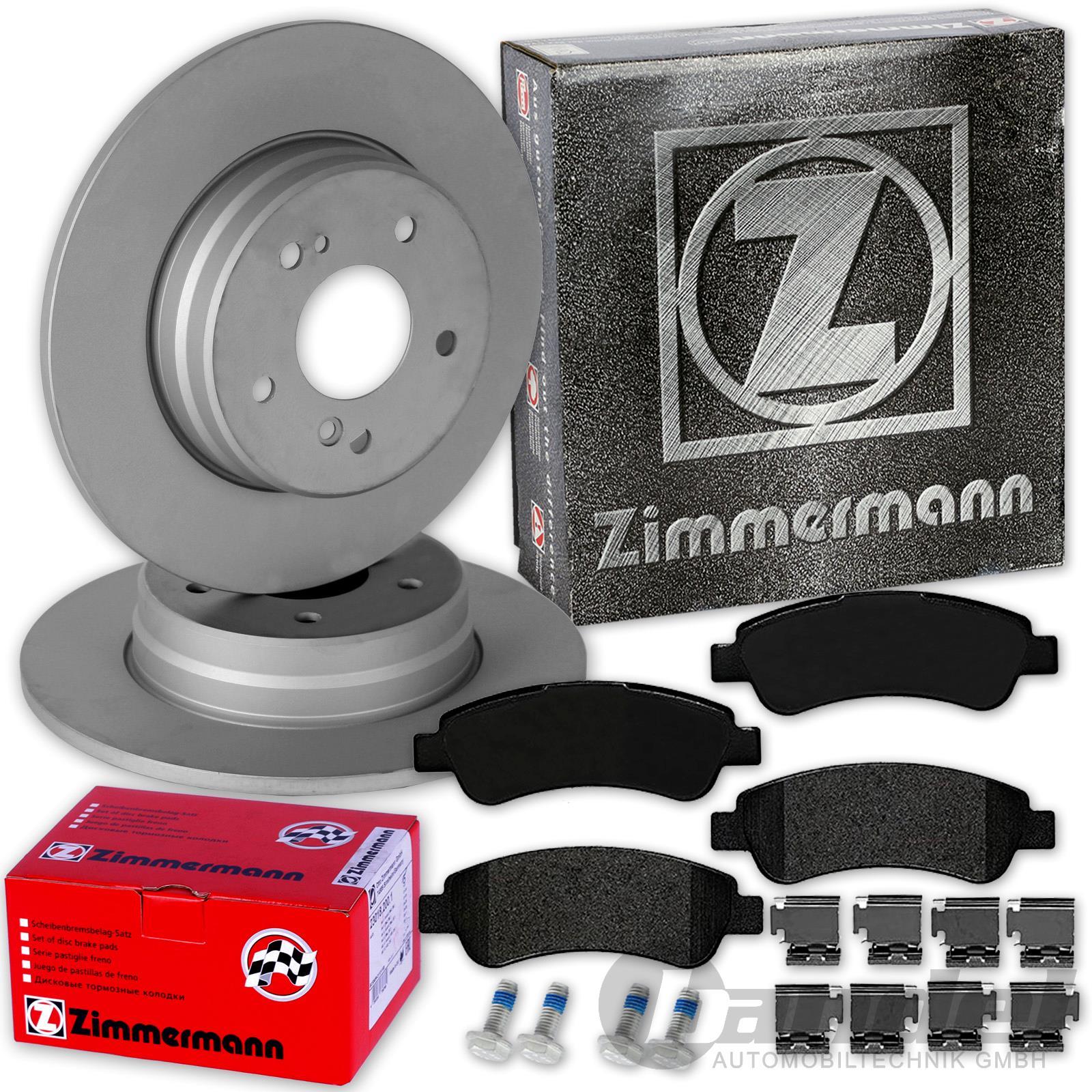 ZIMMERMANN Bremsscheiben Ø280mm Beläge vorne für Fiat Ducato Citroen Jumper