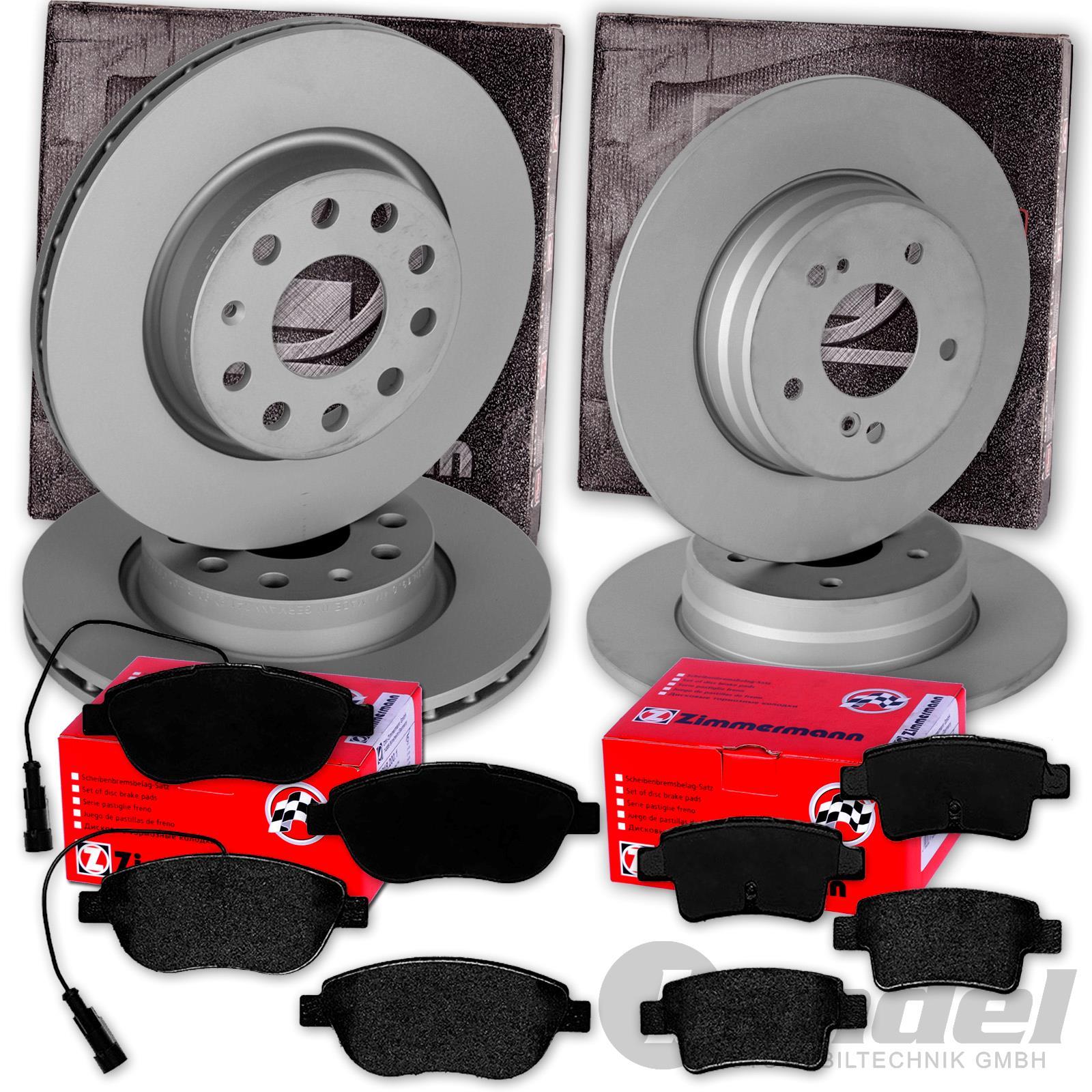 Bremsbeläge VORNE Fiat Grande Punto 1.3 1.6 1.9 JTD ATE Bremsscheiben 284mm