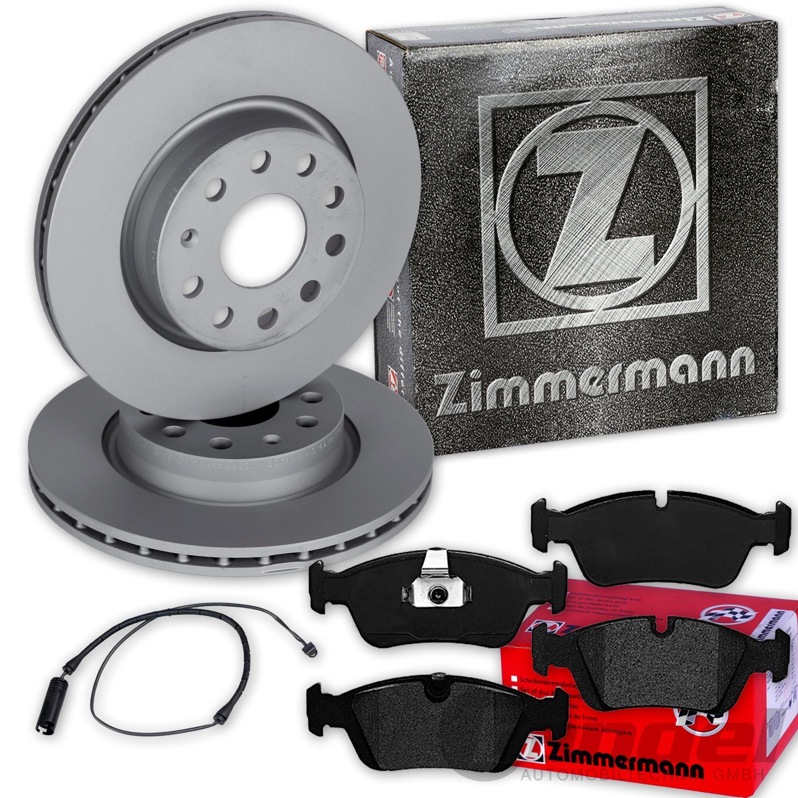 2 X Zimmermann-Bremsscheibe-BMW-3-E36-E46-Touring-Coupe-Z3-Z4-Innenbelüfte Vorne