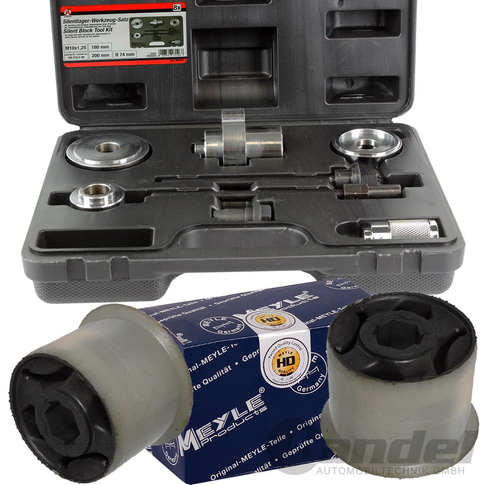 2x Lagerbuchse für Querlenker Vorderachse MEYLE HD 100 407 0073//HD verstärkt