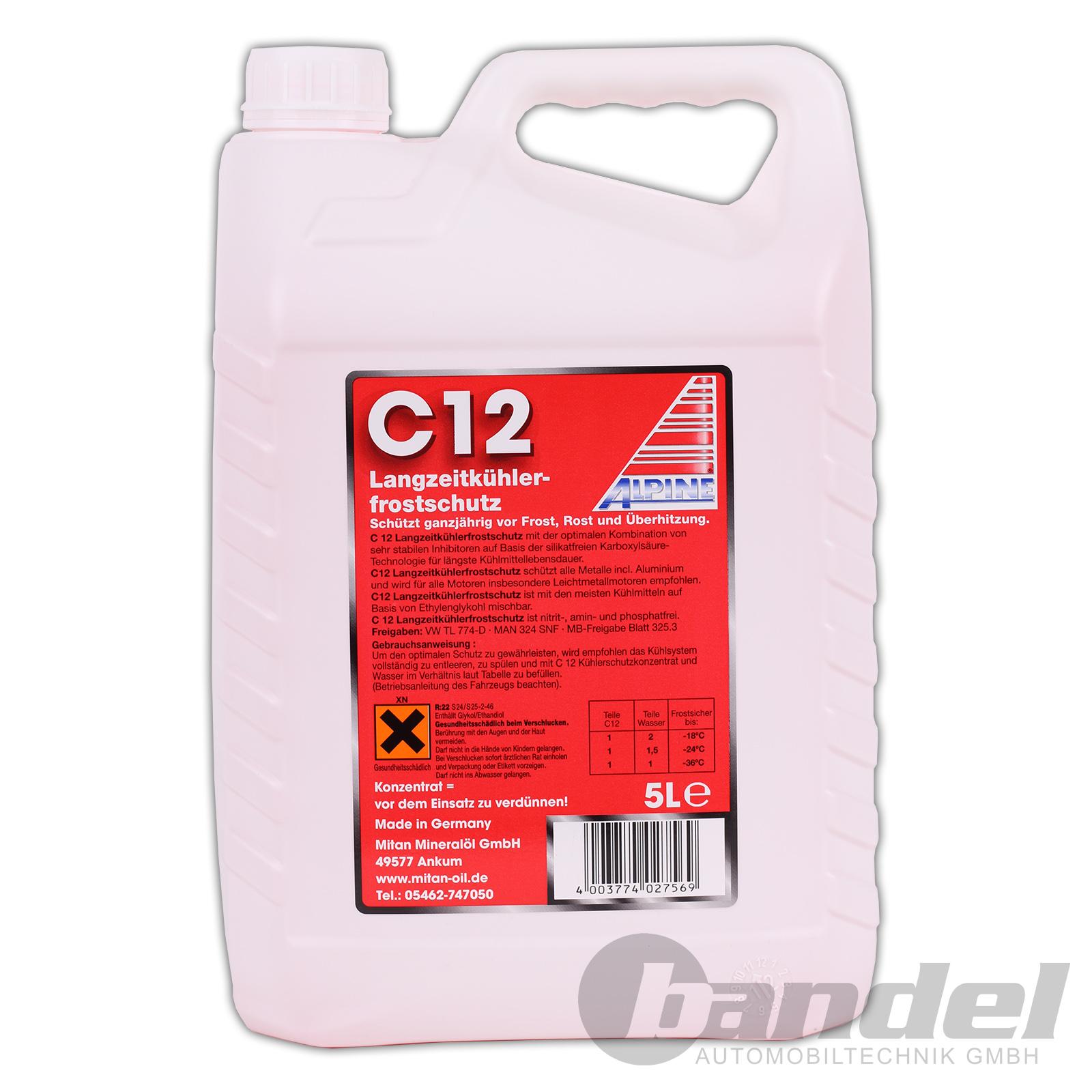 AlLPINE Kühlerfrostschutz Glysantin C11  20 Liter 20l bis 36 Grad