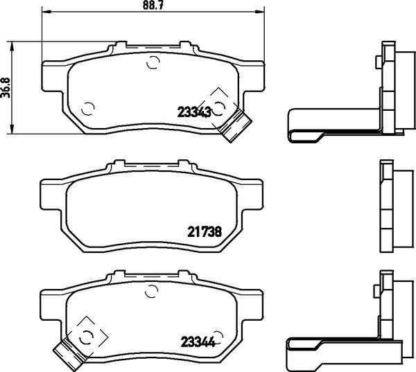 4 textar bremsscheiben bel ge vorne hinten honda jazz. Black Bedroom Furniture Sets. Home Design Ideas