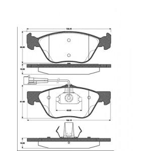 SATZ BREMSBELÄGE VORNE für ALFA 145 146 156 GTV SPIDER FIAT MAREA LANCIA LYBRA Pic:1