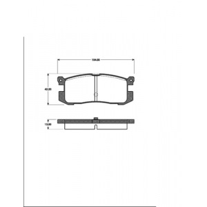 BREMSSCHEIBEN 259mm + BELÄGE HINTEN MAZDA 626 III GD + FORD PROBE 1 Pic:2