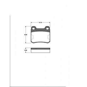 BREMSSCHEIBEN Ø258mm+BELÄGE HINTEN MERCEDES 190 W201 C124 E KLASSE  COUPE W C124 Pic:2