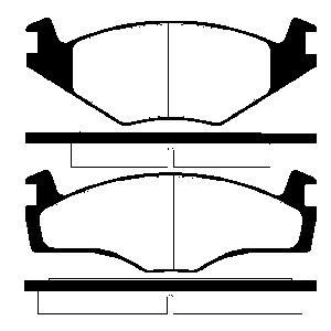 2 BREMSSCHEIBEN 239mm belüftet + BELÄGE VORNE VW GOLF 1 2 JETTA SCIROCCO GTI Pic:2