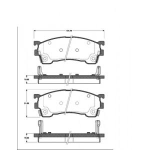 2 BREMSSCHEIBEN 258mm + BELÄGE VORNE MAZDA 626 GE GF PREMACY FORD PROBE 2 Pic:2