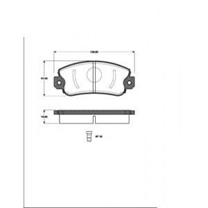 BREMSSCHEIBEN + BREMSBELÄGE BREMSEN VORNE FIAT UNO 1.0 1.1 1.4 1.3 Diesel 83-95 Pic:2