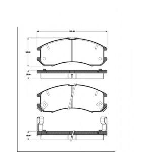 2x BREMSSCHEIBEN Ø264 mm+BELÄGE VORNE MAZDA 626 III COUPE LIMO KOMBI Pic:2
