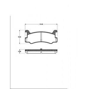 BREMSSCHEIBEN + BREMSBELÄGE BREMSEN HINTEN MAZDA MX-3 (EC) 1.6 + 1.8 V6 mit ABS Pic:2
