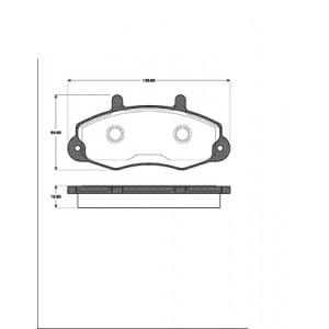 2 BREMSSCHEIBEN 254mm+ BREMSBELÄGE VORNE FORD TRANSIT  BREMSEN 14 ZOLL 91-2000 Pic:2