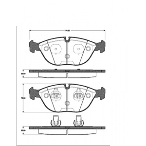 2 BREMSSCHEIBEN 286mm belüftet + BELÄGE VORNE BMW 3ER E36 E46 Z3 Z4 E85 Pic:2