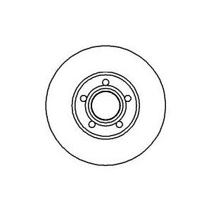 BREMSSCHEIBEN 288mm belüftet + BREMSBELÄGE VORNE AUDI A6 100 AVANT (C4) BREMSEN Pic:1