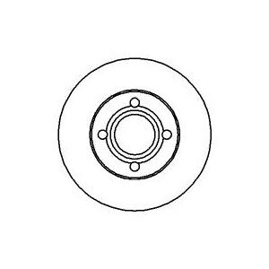 2 BREMSSCHEIBEN Ø256mm belüftet + BELÄGE VORNE AUDI 100 ( 44 44Q C3) 4-LOCH Pic:1