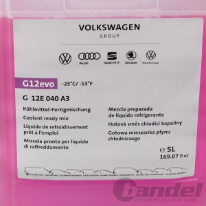 5L ORIGINAL VW AUDI KÜHLMITTEL G12evo KÜHLERFROSTSCHUTZ FERTIG-MIX -25°C Pic:1