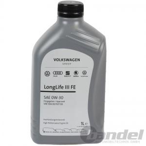 1 Liter ORIGINAL VW AUDI SEAT SKODA 0W-30 ÖL LongLife 3 III FE NACHFOLGER 5W-30