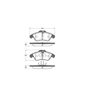 1 SATZ BREMSBELÄGE VORNE MERCEDES SPRINTER  V-KLASSE (638/2)  VITO (638)  VW LT Pic:1