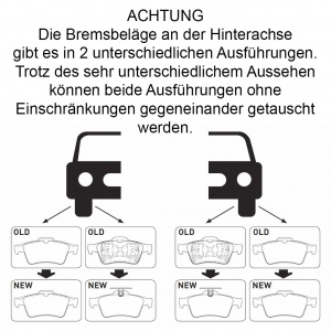 2 BREMSSCHEIBEN + BREMSBELÄGE HINTEN OPEL VECTRA C SIGNUM SAAB 9-3 (YS3F) Pic:3