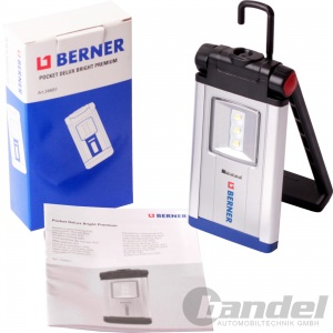 BERNER USB LED-LAMPE POCKET DELUX PREMIUM Li-Io AKKU TASCHENLAMPE WERKSTATT