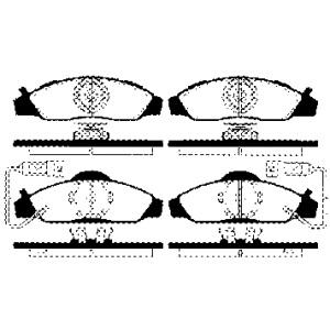 2xBREMSSCHEIBE 278mm+BREMSBELÄGE VORNE SSANGYONG+DAEWOO MUSSO KONRANDO Pic:2