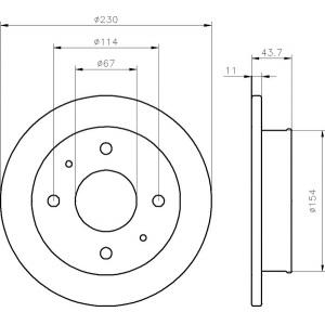 BREMSSCHEIBEN 230mm + BELÄGE VORNE HYUNDAI ATOS + ATOS PRIME [MX] Pic:1