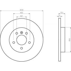 BREMSSCHEIBEN 258mm + BELÄGE HINTEN MERCEDES A-KLASSE [W168] + VANEO [W414] Pic:1