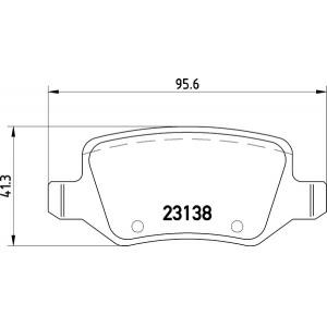 BREMSSCHEIBEN 258mm + BELÄGE HINTEN MERCEDES A-KLASSE [W168] + VANEO [W414] Pic:2