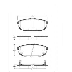 BREMSSCHEIBEN 315mm + BELÄGE HINTEN KIA SORENTO (JC)  NUR bis  Baujahr 9/2006 Pic:2