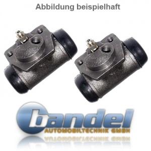 BREMSTROMMELN 268mm BREMSBACKEN RADBREMSZYLINDER ZUBEHÖR VW T4 Pic:3