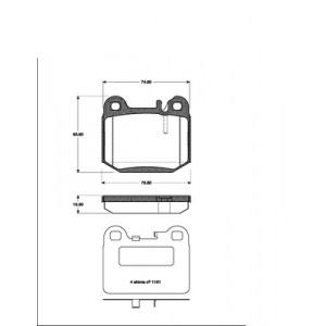 2 BREMSSCHEIBEN 331mm + BREMSBELÄGE HINTEN MERCEDES ML M-KLASSE (W163) Pic:2