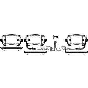 BREMSSCHEIBEN 280mm + BREMSBELÄGE HINTEN VW PHAETON (3D2) PR-NR: 1KD Pic:2