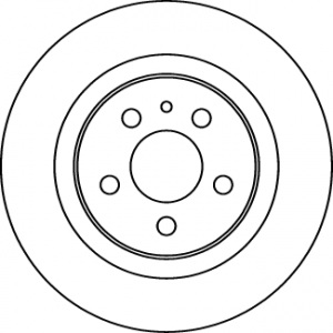 BREMSSCHEIBEN 272mm + BELÄGE HINTEN CITROEN C8 PEUGEOT 807 FIAT ULYSSE [179] Pic:1