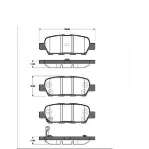 2 BREMSSCHEIBEN 292mm+ BELÄGE HINTEN für NISSAN X-TRAIL + RENAULT KOLEOS Pic:2