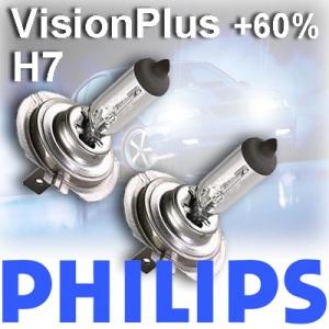 Philips H7 VisionPlus Vision Plus +60% mehr Licht 2er Set