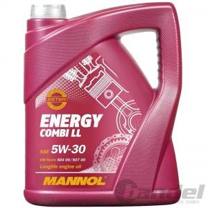 5 LTR MANNOL SAE 5W30 ENERGY COMBI LL MOTORÖL VW 504.00 VW 507.00