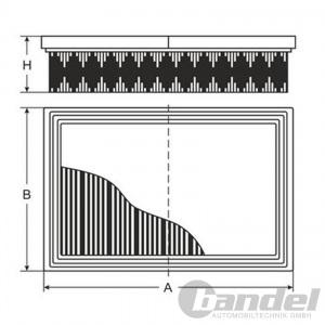 LUFTFILTER HONDA CIVIC VI INFINITI FX QX70 NISSAN JUKE X-TRAIL RENAULT KOLEOS I Pic:1