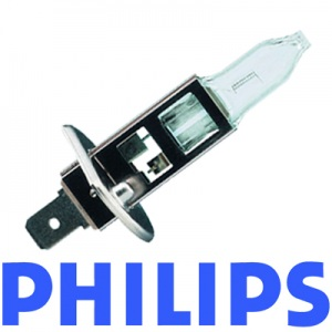 1 x PHILIPS H1 Vision +30% mehr Licht die Standard Glühlampe 12V/55W Halogen