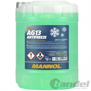 10 Liter MANNOL AG13 GRÜN bis -40°C KÜHLERFROSTSCHUTZ KÜHLMITTEL