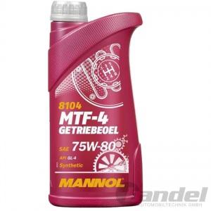 1 Liter MANNOL GETRIEBEÖL SAE 75W-80 API GL-4 HANDSCHALTGETRIEBE