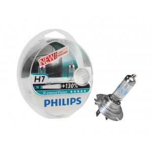 """2x PHILIPS® X-treme VISION H7 """"+130% mehr Licht"""" KFZ AUTO GLÜHLAMPEN H7"""