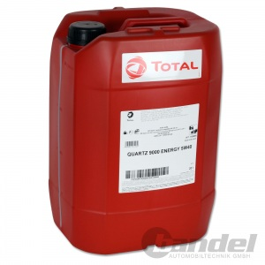 20 Liter TOTAL Quartz 9000 ENERGY 5W-40 Motoröl 5W40 VW MERCEDES BMW
