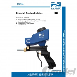 SW STAHL DRUCKLUFT SANDSTRAHL-PISTOLE SANDSTRAHL-GERÄT SANDSTRAHLER 600 cm³ Pic:2