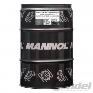 60 LITER FASS MANNOL MOTORÖL 10W-40 API SL/CF MN7702SP OPEL CHEVROLET